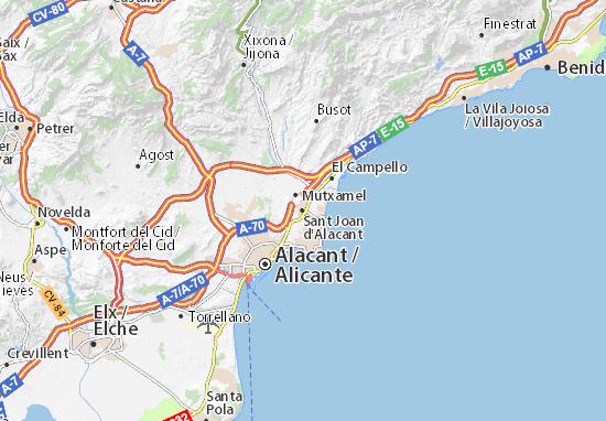Mapas-Planos Sant Joan d'Alacant