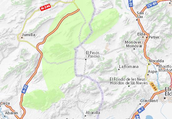 Pinoso Map