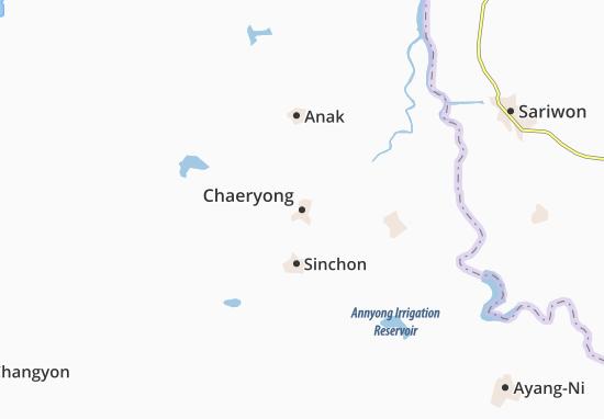 Kaart Plattegrond Chaeryong