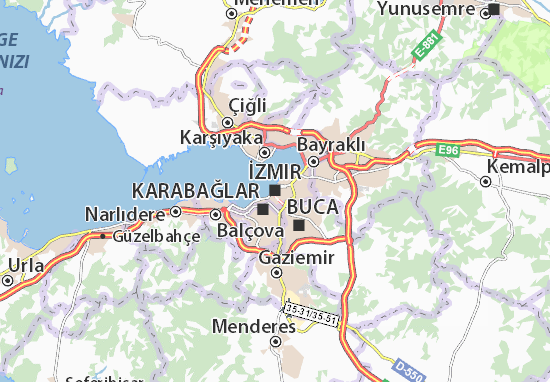 Mapa Plano İzmir