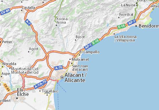 El Campello Map