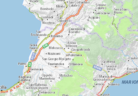 Anoia Inferiore Map