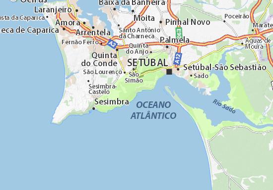 portinho da arrabida mapa Mapa Portinho da Arrábida   plano Portinho da Arrábida  ViaMichelin portinho da arrabida mapa