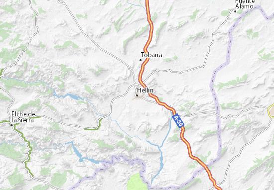 Hellín Map
