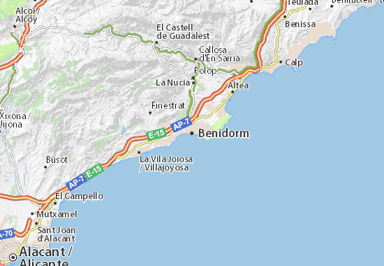 Map of Benidorm - Michelin Benidorm map - ViaMichelin