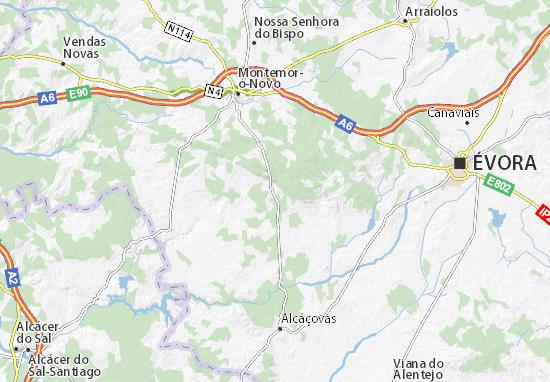 Kaart Plattegrond Santiago do Escoural