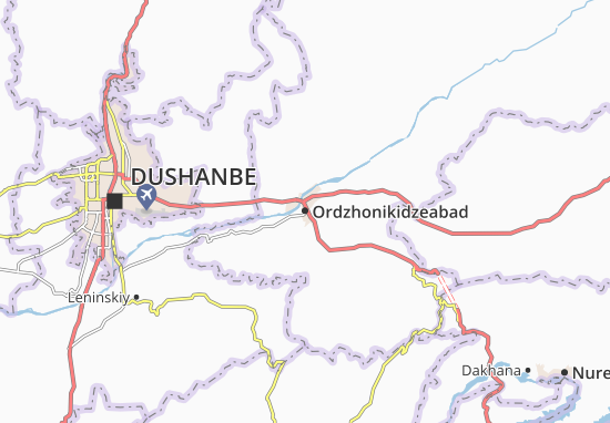 Carte-Plan Ordzhonikidzeabad