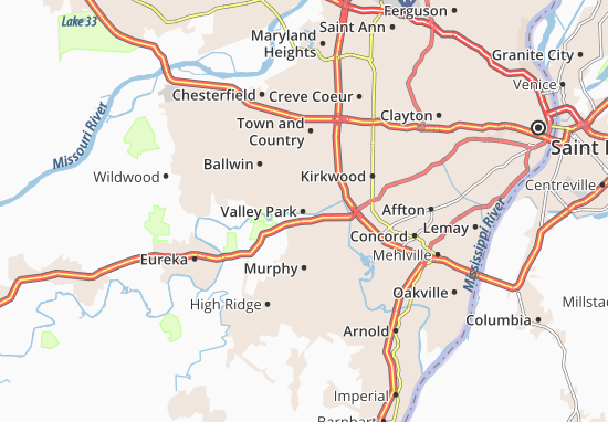 Valley Park Map