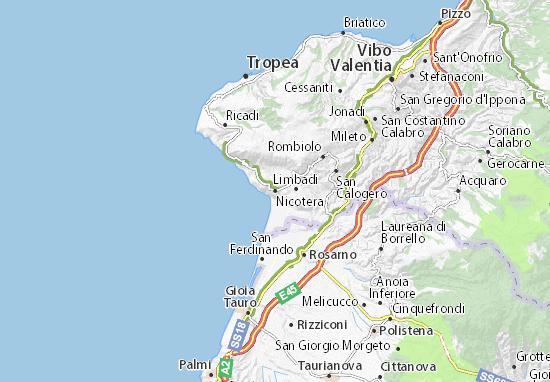 Nicotera Map