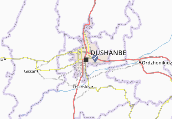 Map Of Dushanbe Michelin Dushanbe Map ViaMichelin - Dushanbe map
