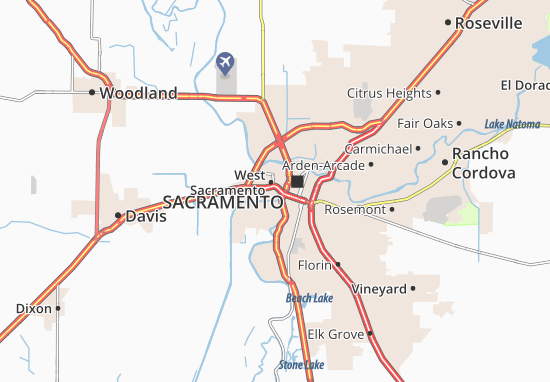 West Sacramento Map