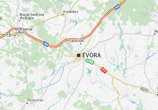 Carte-Plan Évora