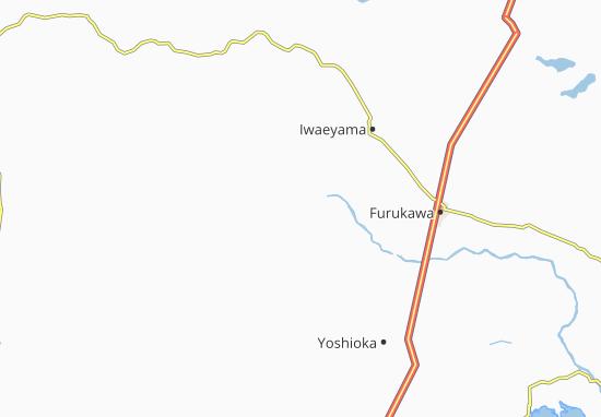 Kaart Plattegrond Higashi-Onoda