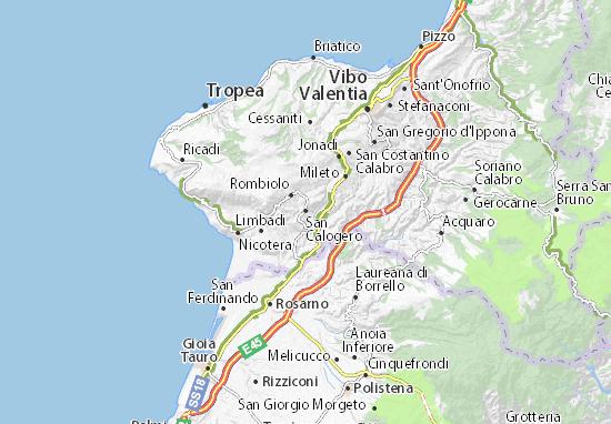 Carte-Plan San Calogero