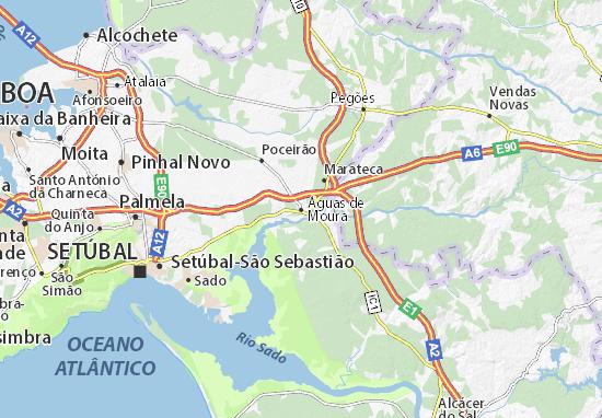 Águas de Moura Map