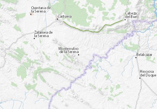 Mapa Monterrubio De La Serena Plano Monterrubio De La Serena