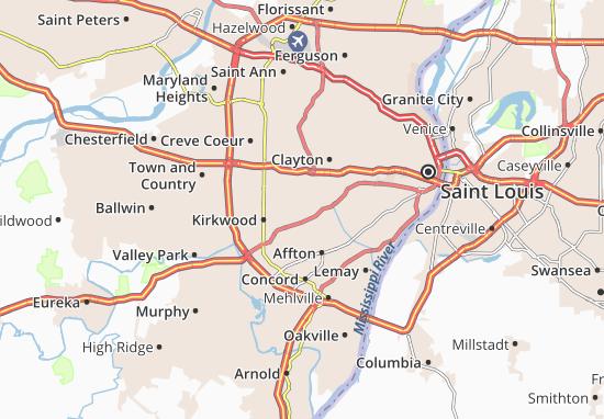 Carte-Plan Webster Groves