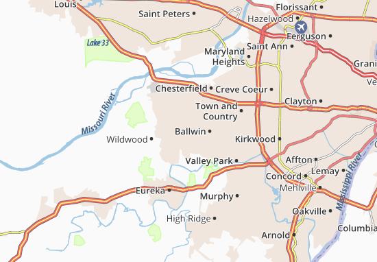 Ellisville Map
