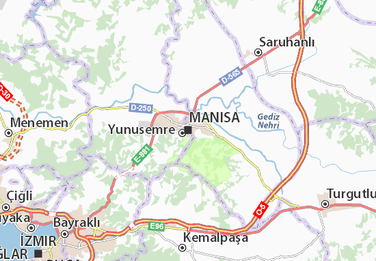 Mapa Plano Manisa