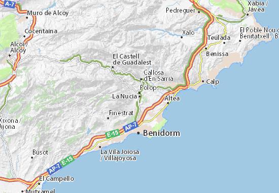 La Nucia Map
