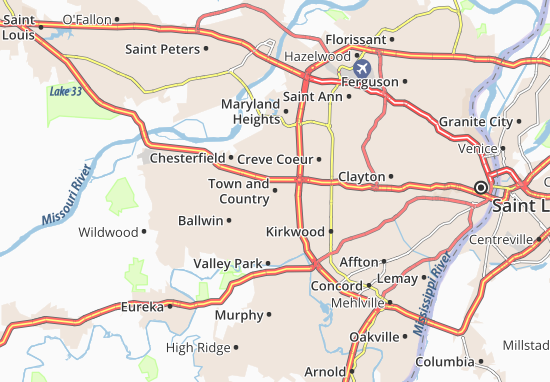 Town and Country Map
