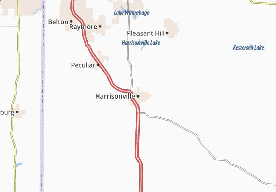 Harrisonville Map