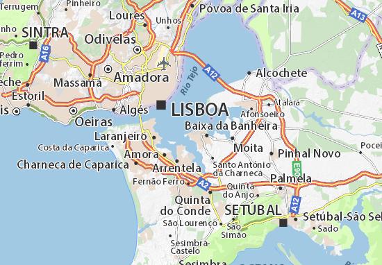 Kaart Plattegrond Barreiro
