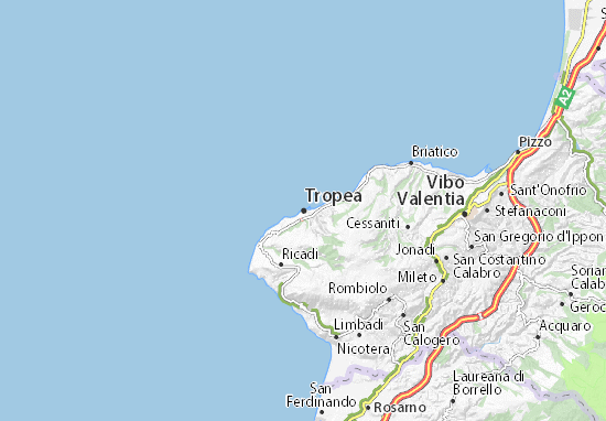 Tropea Map Detailed Maps For The City Of Tropea Viamichelin