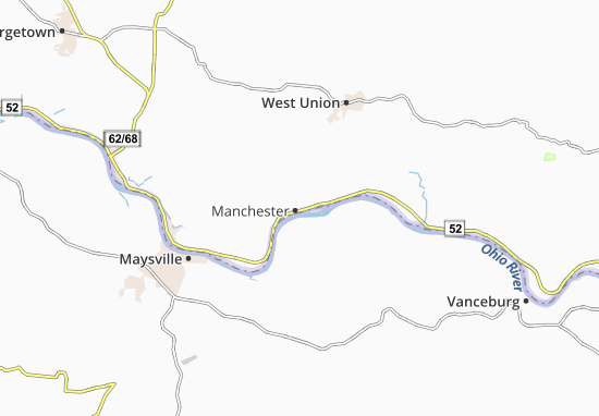 Manchester Ohio Map.Map Of Manchester Michelin Manchester Map Viamichelin