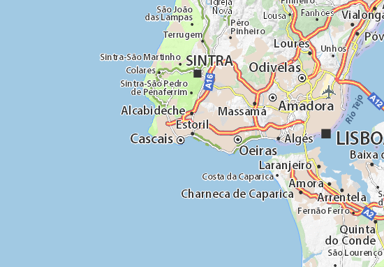 Mapa Estoril