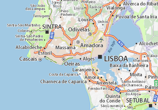 linda a velha mapa Mapa Linda a Velha   plano Linda a Velha  ViaMichelin linda a velha mapa
