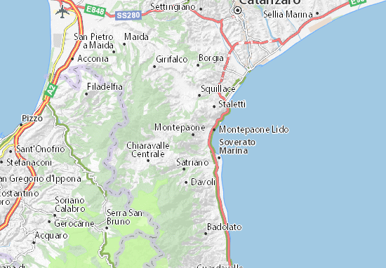 Mappe-Piantine Montepaone