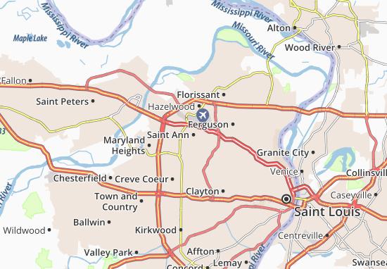 Saint Ann Map