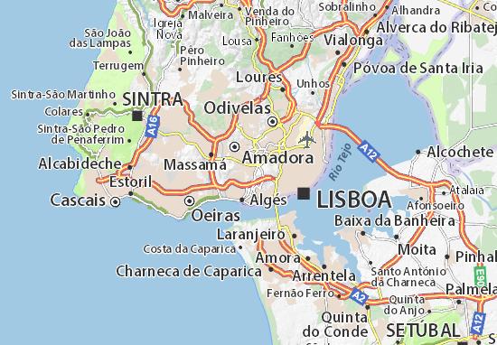 alfragide mapa Mapa Alfragide   plano Alfragide  ViaMichelin alfragide mapa