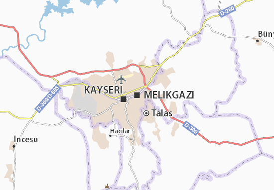 Mapa Plano Melikgazi