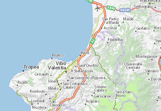 Pizzo Map Detailed Maps For The City Of Pizzo Viamichelin