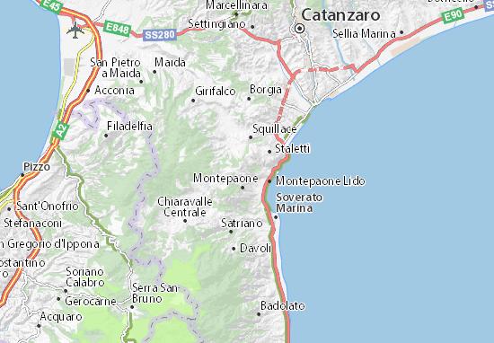 Cartina Calabria Sellia Marina.Mappa Gasperina Cartina Gasperina Viamichelin