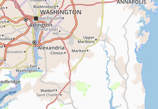 Kaart Plattegrond Rosaryville