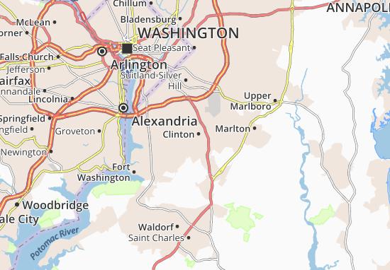 Kaart Plattegrond Clinton