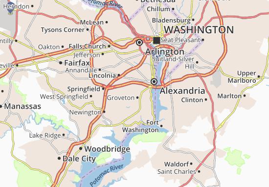 Detailed Map Of Virginia Hills Virginia Hills Map Viamichelin