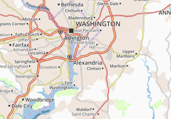 Oxon Hill-Glassmanor Map