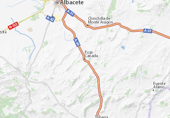 Carte-Plan Pozo Cañada