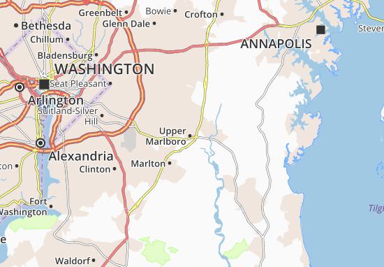 Kaart Plattegrond Greater Upper Marlboro