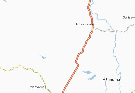 Kaart Plattegrond Iwagasaki