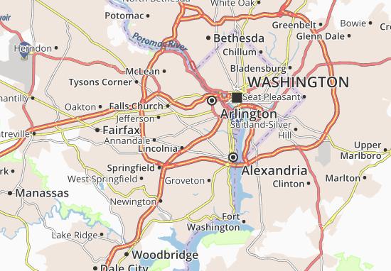 Cartina Washington.Mappa Michelin Washington Forest Pinatina Di Washington Forest Viamichelin