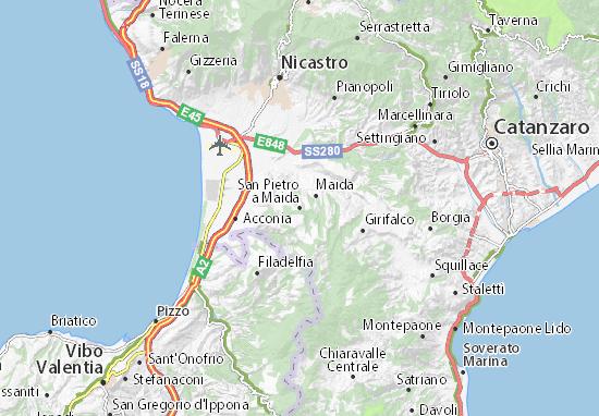 Mappe-Piantine San Pietro a Maida