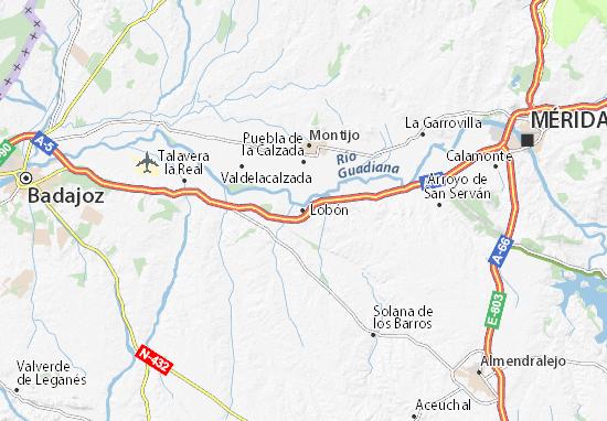 Lobón Map