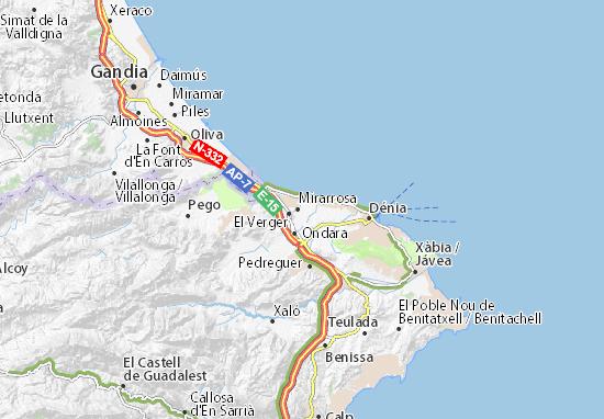 Els Poblets Map