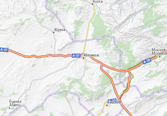 Carte-Plan Almansa
