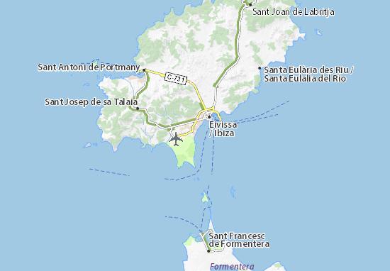 Ibiza Karte Playa D En Bossa.Platja D En Bossa Map Detailed Maps For The City Of Platja D En